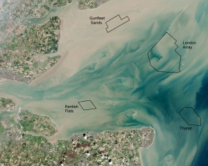 Thames Estuary & London Array. Courtesy of NASA.