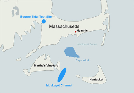 Ocean renewable projects in Nantucket Sound. (Adapted from CNN.com)